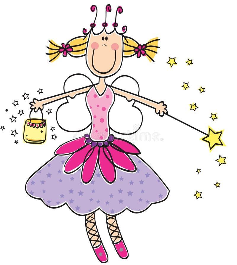 Princesse féerique illustration stock