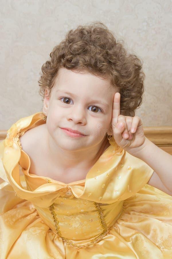 Princesse intelligente d'enfant image libre de droits