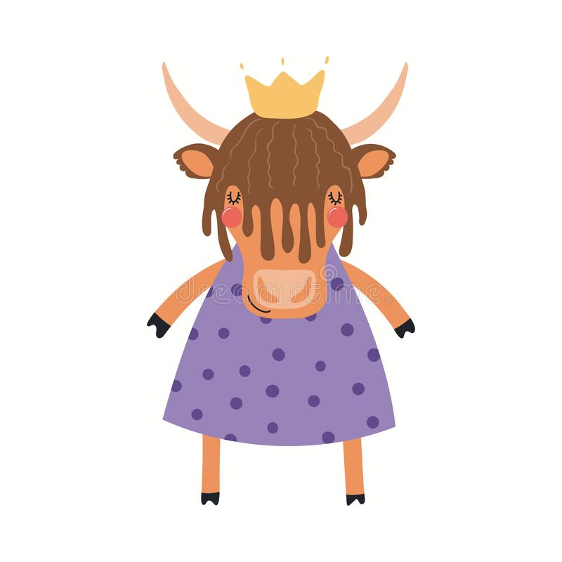 Princesse mignonne de yaks illustration stock