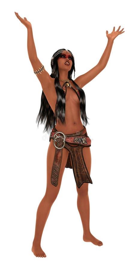 Princesse préhistorique photographie stock