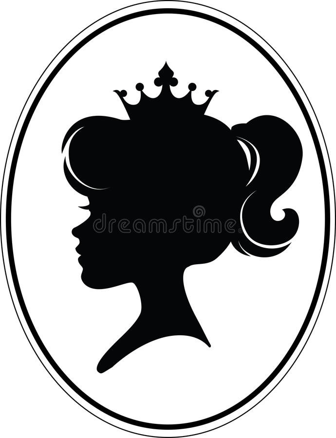 Princesse Silhouette de fille illustration libre de droits