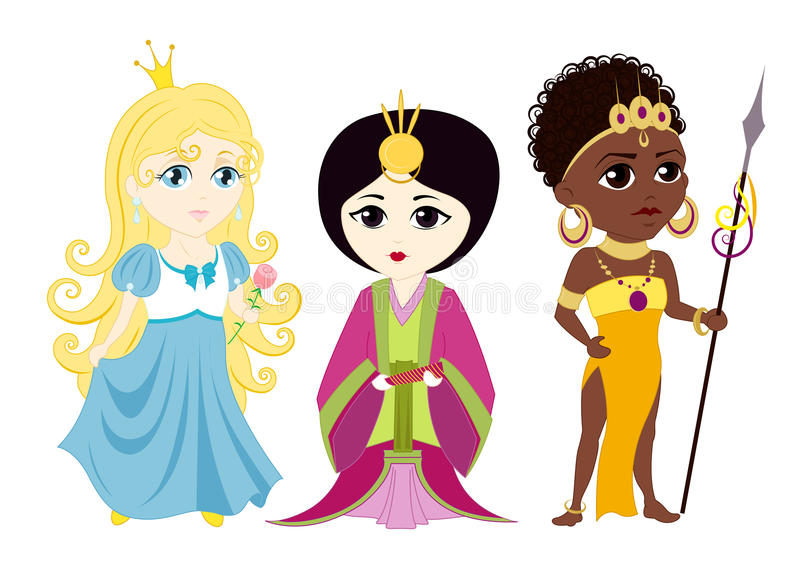 princesses illustration de vecteur