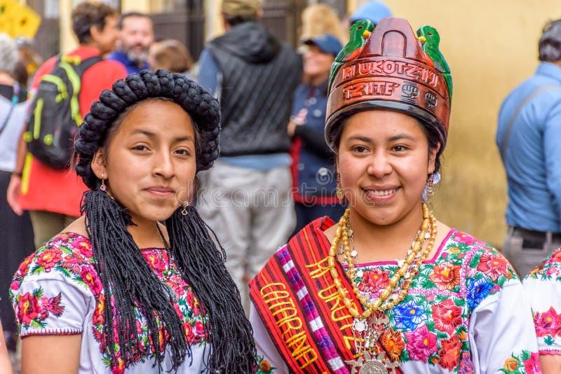 Princesses de concours de beauté de Maya, Antigua, Guatemala images libres de droits