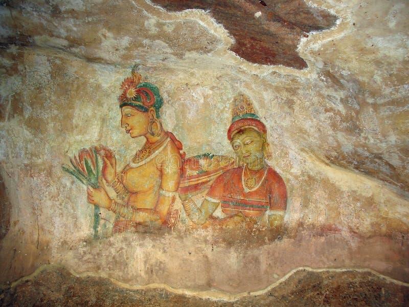 Princesses de Sigiriya image stock