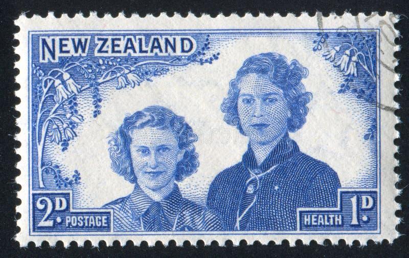 Princesses Margaret Rose et Elizabeth photographie stock libre de droits
