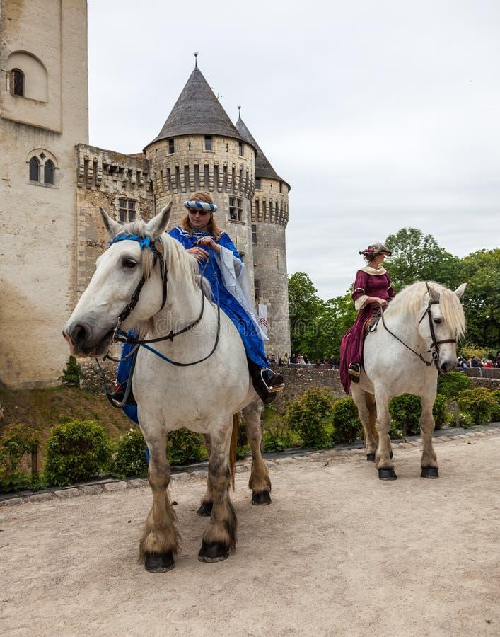 Princesses Ridning Häst arkivfoto