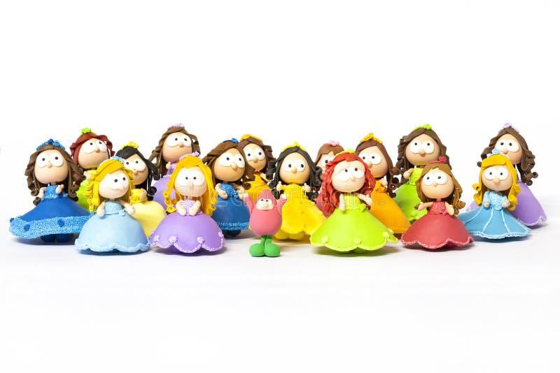 Princesses sur le blanc photographie stock libre de droits