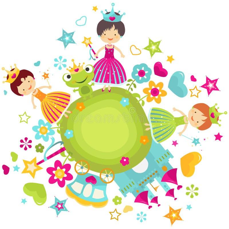 Princessuppsättning stock illustrationer