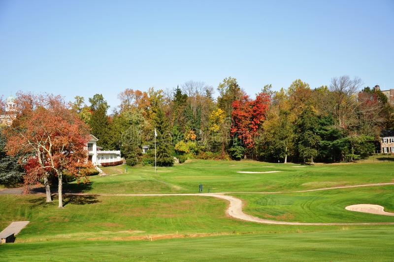 Princeton-Golfplatz lizenzfreie stockfotografie