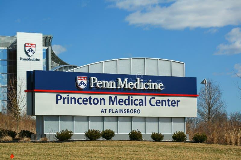 Princeton Medical Center at Plainsboro. Princeton New Jersey - March 16, 2019: Princeton Medical Center at Plainsboro royalty free stock photos