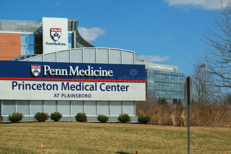 Princeton Medical Center at Plainsboro. Princeton New Jersey - March 16, 2019: Princeton Medical Center at Plainsboro stock images
