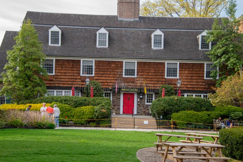 The Nassau Inn as seen, a popular hotel and event venue in Princeton royalty free stock photography