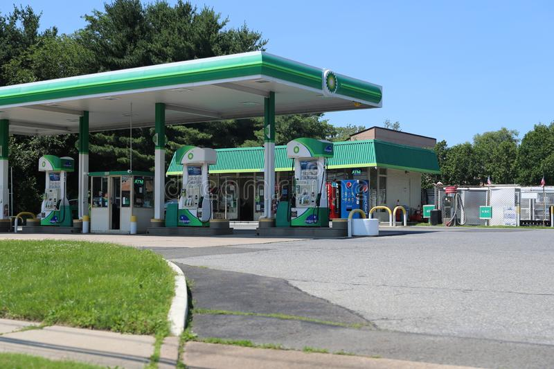 BP Or British Petroleum Gas Station In Summer Day  Editorial