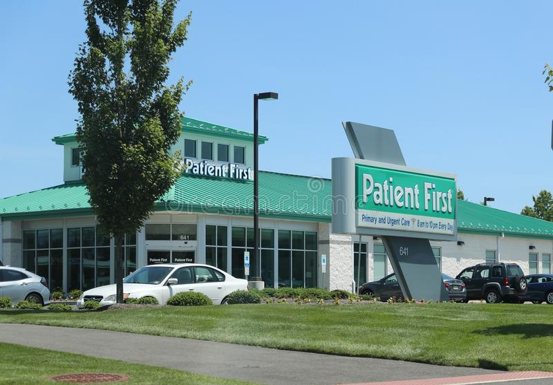 Patient First Urgent Care store front. stock image