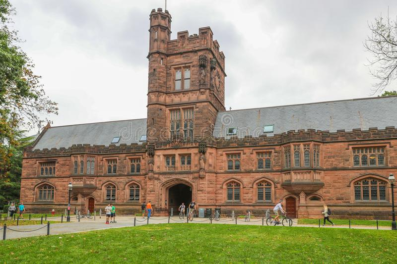 Princeton University is a Private Ivy League University in New Jersey, USA. Princeton, New Jersey - October 15, 2017: Princeton University is a Private Ivy royalty free stock photo