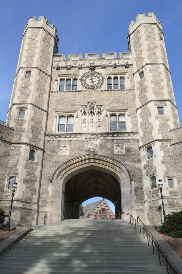 Princeton University is a Private Ivy League University in New Jersey, USA. PRINCETON, NJ - December 26, 2019: US News and World Report has ranked Princeton as royalty free stock image