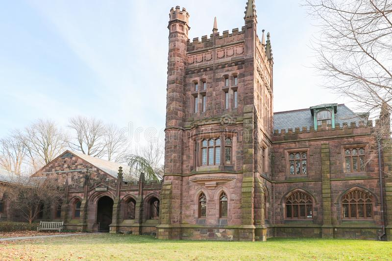 Princeton University is a Private Ivy League University in New Jersey, USA. PRINCETON, NJ - December 26, 2019: US News and World Report has ranked Princeton as royalty free stock photography