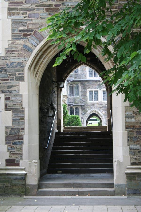 Princeton University. Dormitories and stairs stock photo