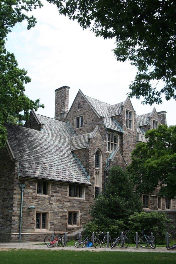 Princeton University. Dormitories and bikes royalty free stock photo