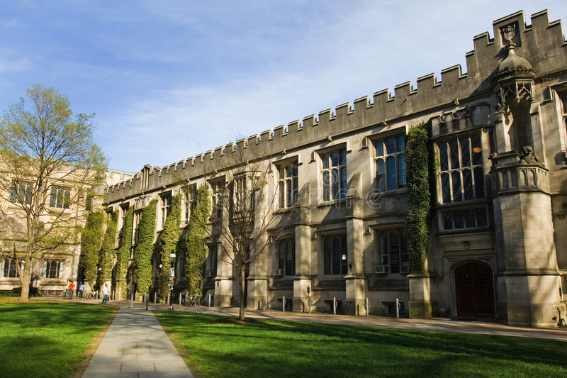 Princeton University. Campus building in spring, New Jersey royalty free stock photography