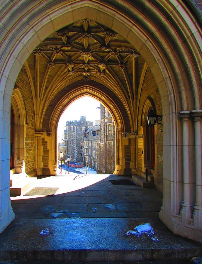 Princeton University in New Jersey. Princeton University in the state of New Jersey Architecture, arches royalty free stock photos