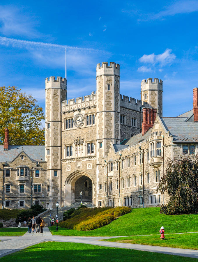 Princeton University. One of famous American universities royalty free stock photos