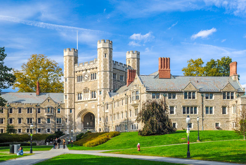 Princeton University. One of famous American universities royalty free stock photography
