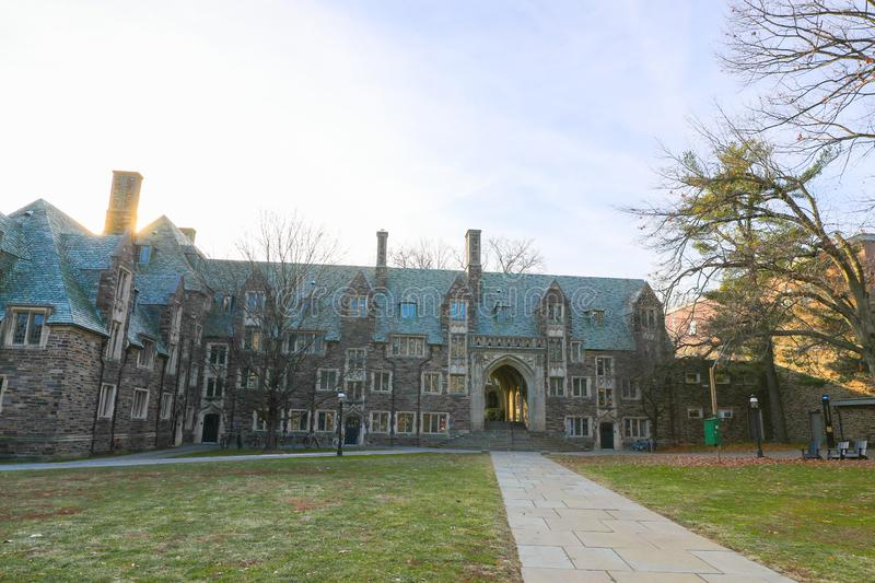 Princeton University is a Private Ivy League University in New Jersey, USA. PRINCETON, NJ - December 26, 2019: US News and World Report has ranked Princeton as stock photo