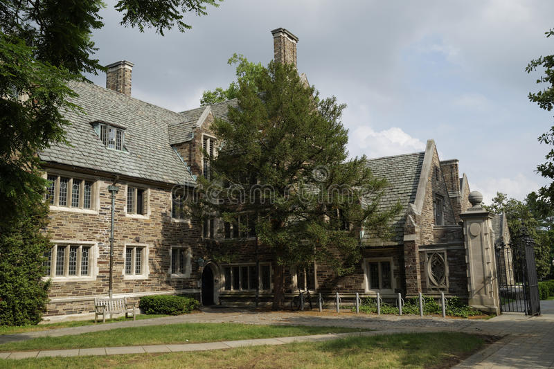 Princeton University, USA. Princeton University Campus, neogothic style buildings constructed of limestone. New Jersey, USA stock photos