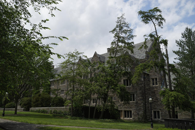 Princeton University, USA. Princeton University Campus, neogothic style buildings constructed of limestone. New Jersey, USA royalty free stock photos