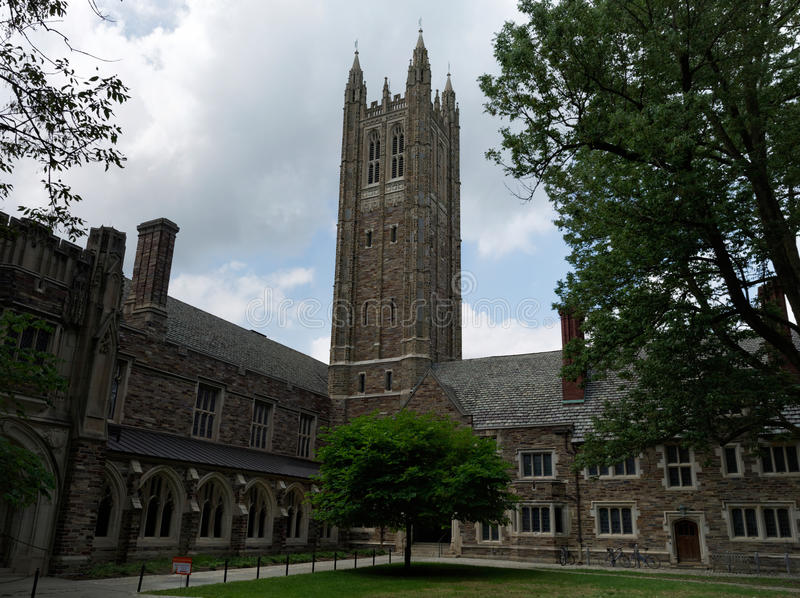 Princeton University, USA. Princeton University Campus, neogothic style buildings constructed of limestone. New Jersey, USA stock photo