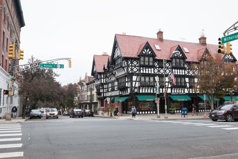Princeton van de binnenstad New Jersey stock afbeelding