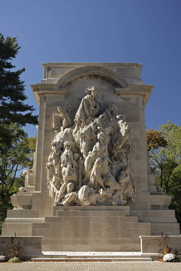 Princeton War Memorial. Front View stock photo
