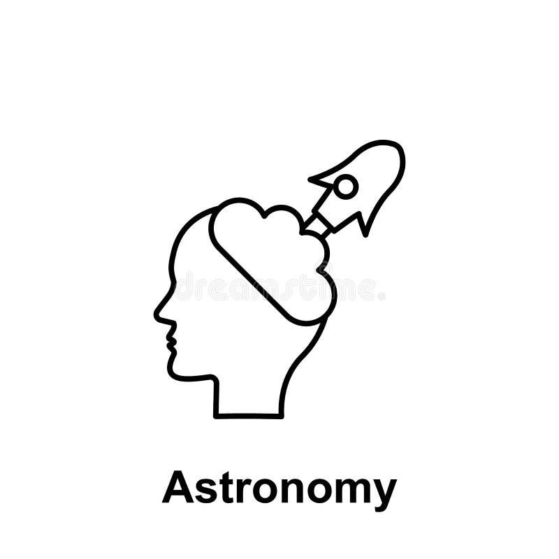 Principal, creativo, icono del cohete Elemento del nombre creativo del witn del icono del thinkin Línea fina icono para el diseño libre illustration