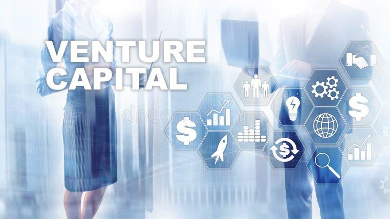 Principal de risco na tela virtual Conceito do negócio, da tecnologia, do Internet e da rede abstraia o fundo ilustração do vetor