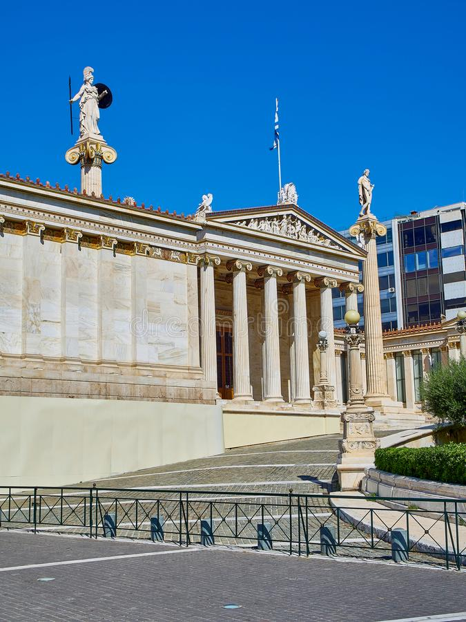 The Academy of Athens. Attica, Greece. royalty free stock photo