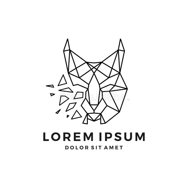 principal téléchargement icône de vecteur de logo de lynx géométrique d'ensemble de schéma image libre de droits
