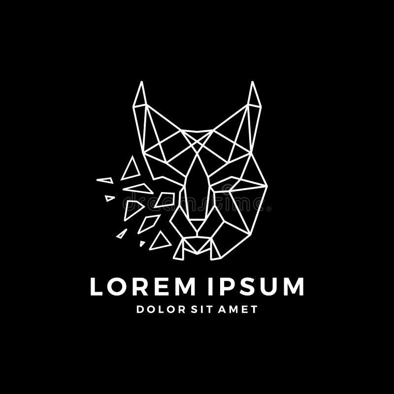 principal téléchargement icône de vecteur de logo de lynx géométrique d'ensemble de schéma photographie stock