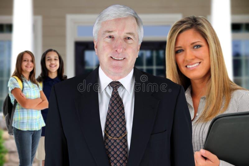 Principal and Teacher stock photography