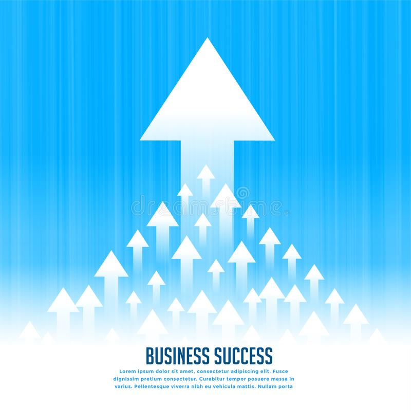 Principales flèches en hausse ascendantes pour le concept de croissance d'affaires illustration de vecteur