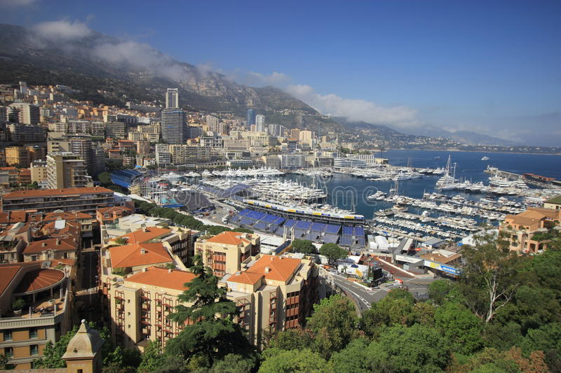 Principality of Monaco. Sovereign city-state and microstate, located on the French Riviera in Western Europe royalty free stock photography
