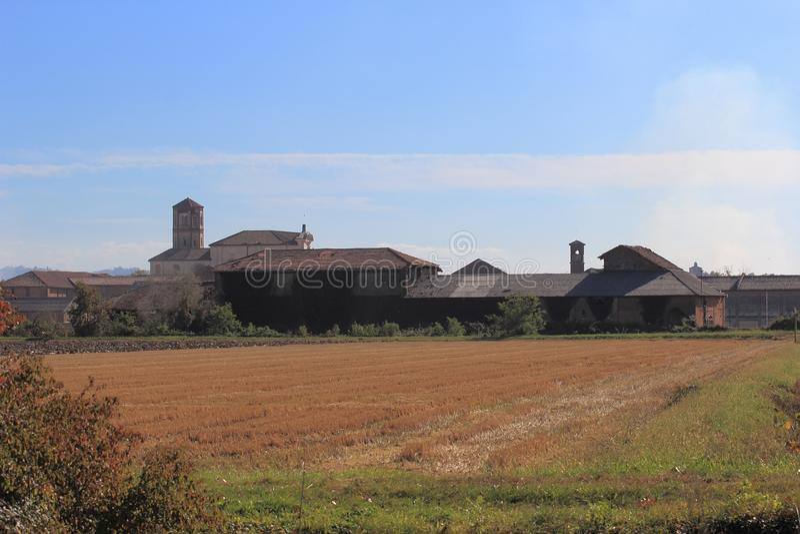 Principato Di Lucedio, Bercelli, Italië stock afbeeldingen
