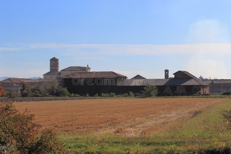Principato Di Lucedio, Vercelli, Włochy obrazy stock