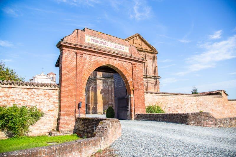 Principato van Lucedio, Bercelli, Italië stock foto