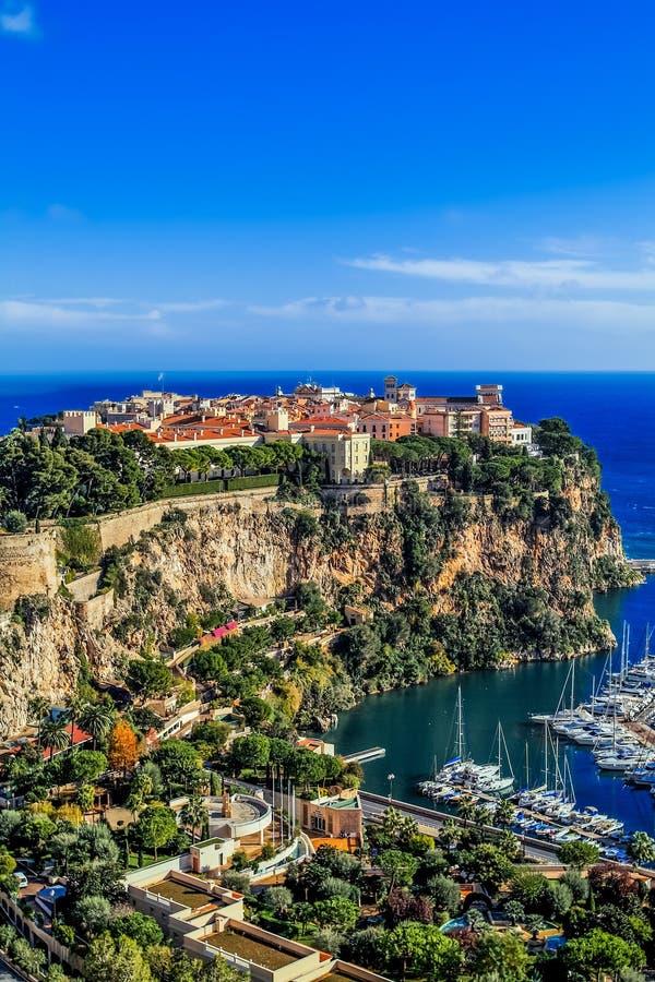 Principaute de Mónaco y de Monte Carlo imagenes de archivo