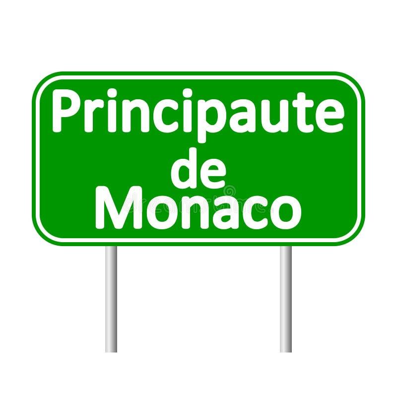 Principaute de Monaco vägmärke stock illustrationer