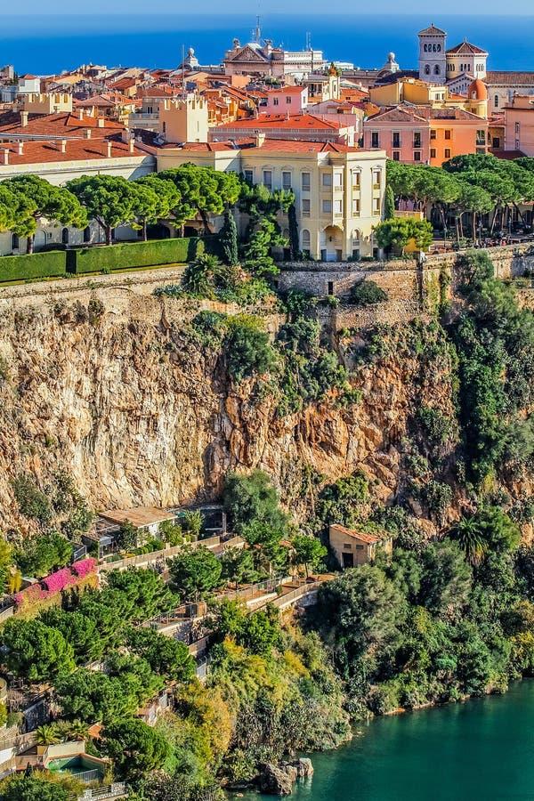 Principaute of monaco and monte carlo stock photo