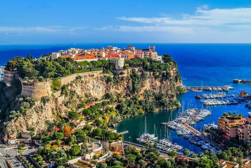 Principaute van Monaco en Monte Carlo royalty-vrije stock foto's