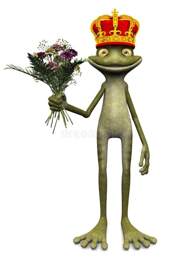 Principe Charming della rana del fumetto. royalty illustrazione gratis