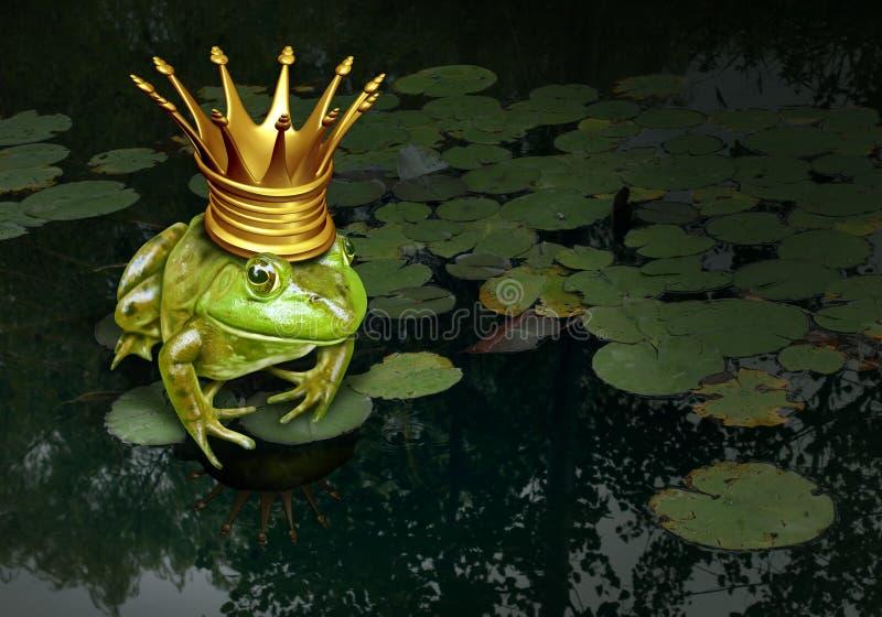 Principe Concept della rana illustrazione di stock
